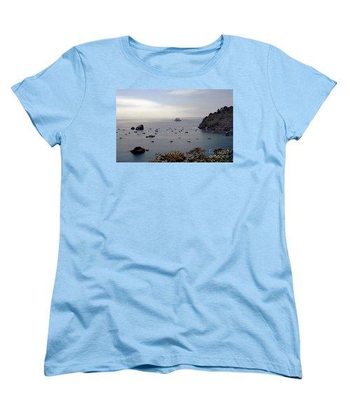 Women's T-Shirt (Standard Cut) featuring the photograph Busy Harbor by Sharon Elliott