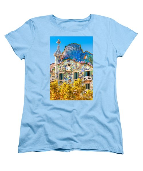 Casa Batllo - Barcelona Women's T-Shirt (Standard Cut) by Luciano Mortula