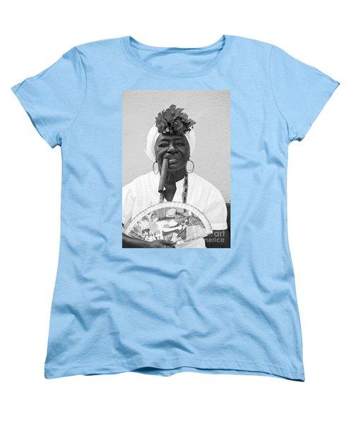Cuban Lady Women's T-Shirt (Standard Cut) by Chris Dutton