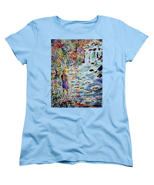 Women's T-Shirt (Standard Cut) featuring the painting Daughter Of The River by Alfred Motzer