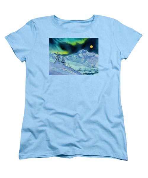Denali Night Women's T-Shirt (Standard Cut) by Teresa Ascone
