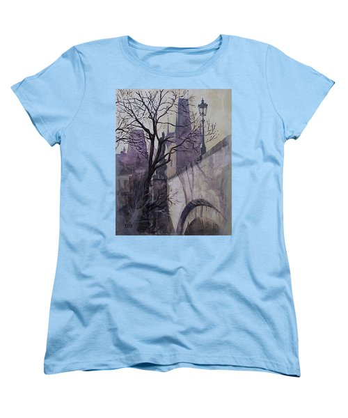 Dusk At The Charles Bridge Women's T-Shirt (Standard Cut)