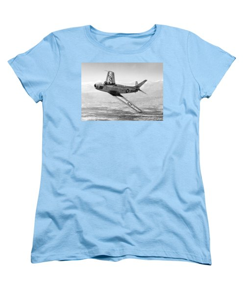 Women's T-Shirt (Standard Cut) featuring the photograph F-86 Sabre, First Swept-wing Fighter by Science Source
