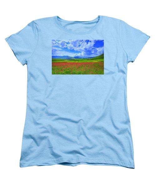 Fields Of Dreams Women's T-Shirt (Standard Cut) by Midori Chan