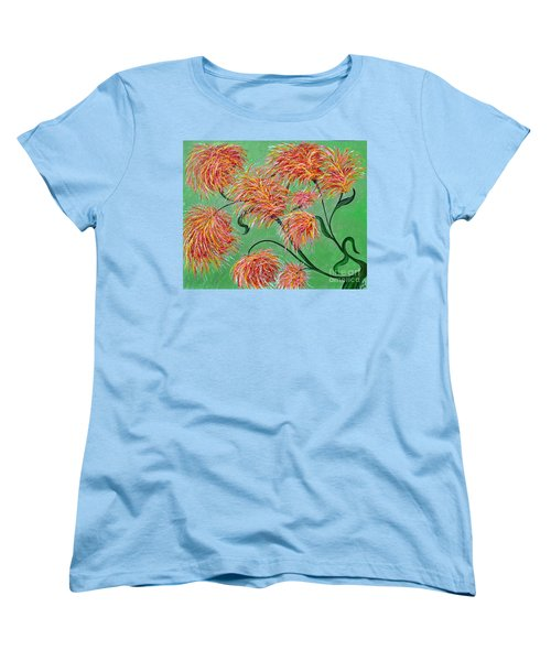 Women's T-Shirt (Standard Cut) featuring the painting Fireworks by Alys Caviness-Gober