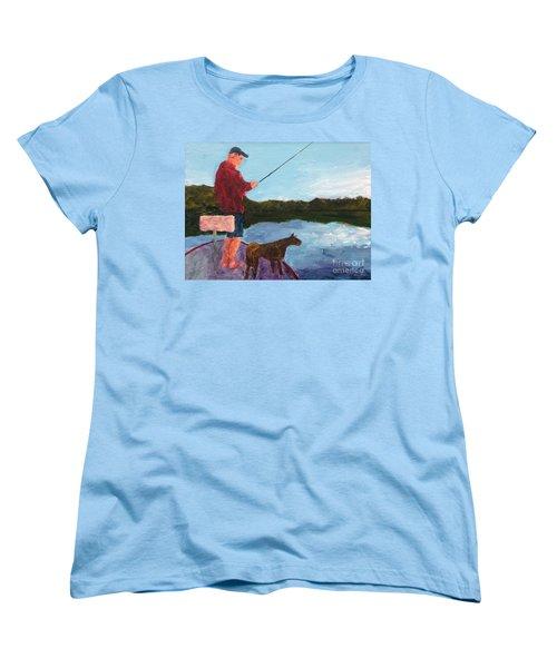 Fishing Women's T-Shirt (Standard Cut) by Donald J Ryker III