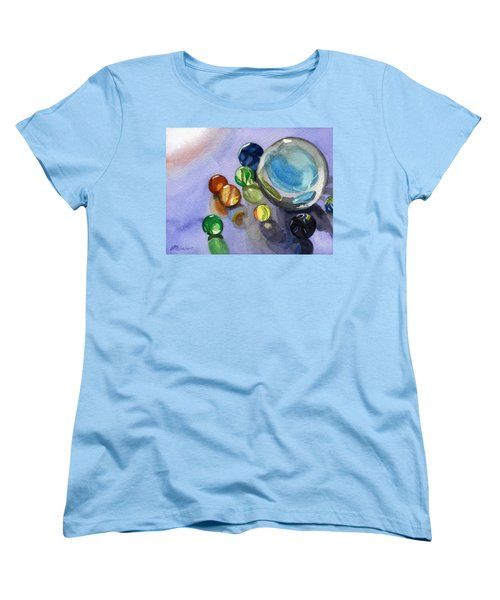Women's T-Shirt (Standard Cut) featuring the painting Found My Marbles by Lynne Reichhart
