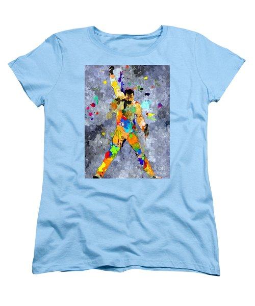 Freddie Mercury Women's T-Shirt (Standard Cut) by Daniel Janda