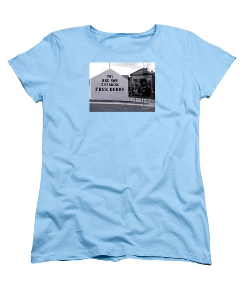 Free Derry Corner Women's T-Shirt (Standard Cut) by Nina Ficur Feenan