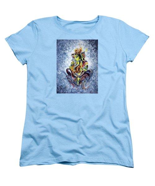 Musical Ganesha Women's T-Shirt (Standard Cut)