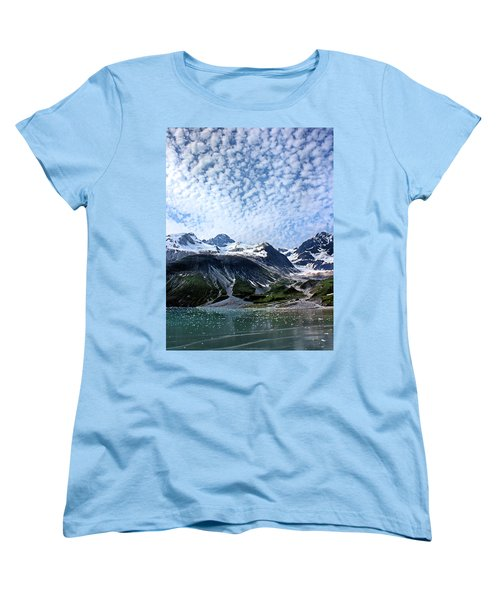 Women's T-Shirt (Standard Cut) featuring the photograph Glacier Bay Beautiful by Kristin Elmquist