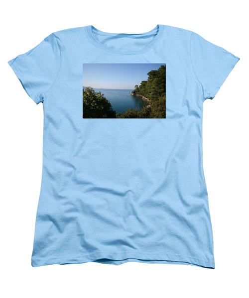 Women's T-Shirt (Standard Cut) featuring the photograph Gokova Korfezi Akyaka by Tracey Harrington-Simpson