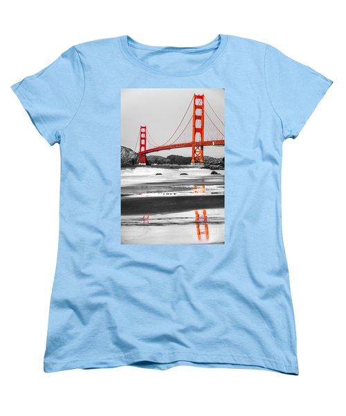 Golden Gate - San Francisco - California - Usa Women's T-Shirt (Standard Cut) by Luciano Mortula