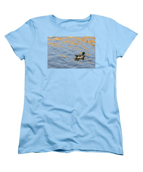 Golden Ripples Women's T-Shirt (Standard Cut) by Keith Armstrong