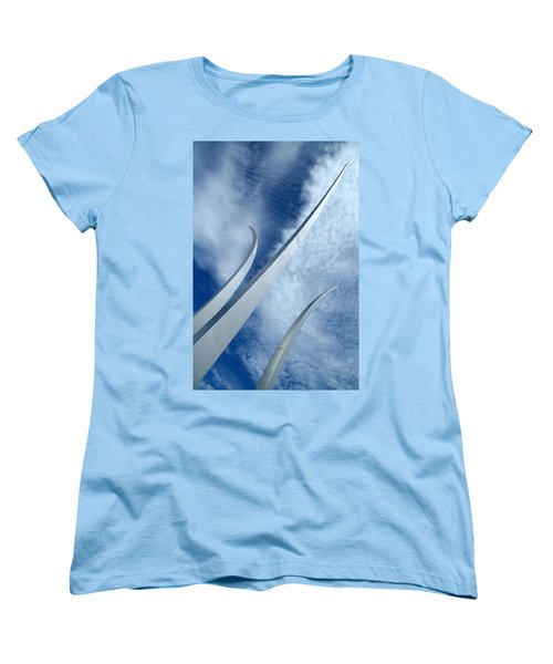 Women's T-Shirt (Standard Cut) featuring the photograph Into The Clouds by Cora Wandel