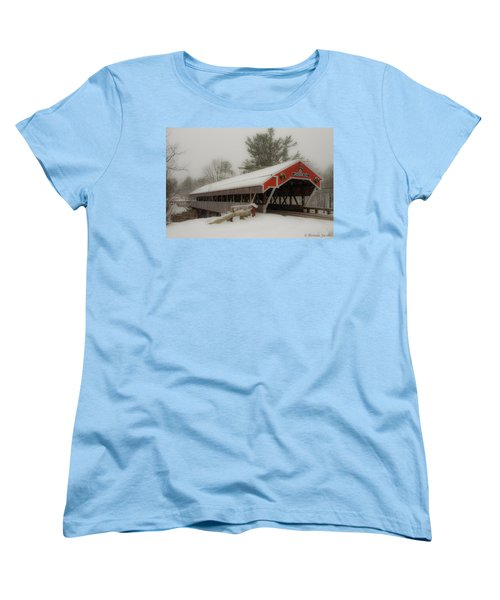 Jackson Nh Covered Bridge Women's T-Shirt (Standard Cut) by Brenda Jacobs