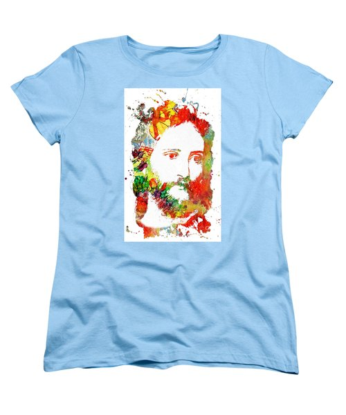 Jesus Christ - Watercolor Women's T-Shirt (Standard Cut) by Doc Braham