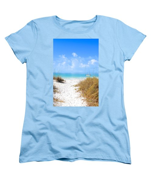 Women's T-Shirt (Standard Cut) featuring the photograph Anna Maria Island Escape by Margie Amberge