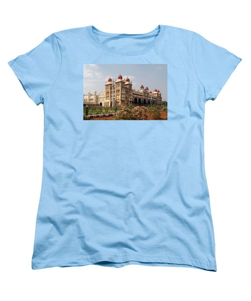 Maharaja's Palace And Garden India Mysore Women's T-Shirt (Standard Cut) by Carol Ailles