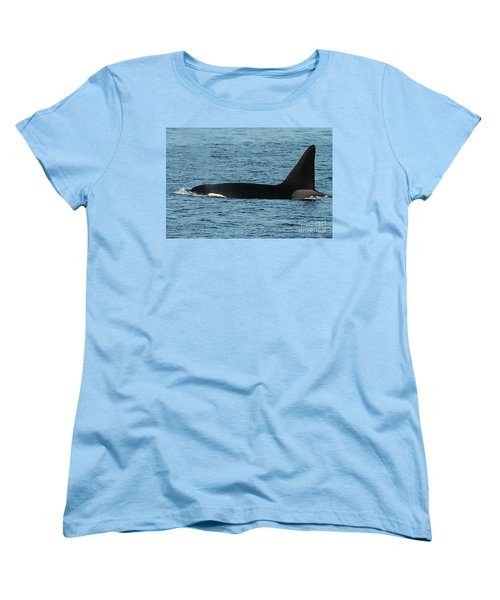 Women's T-Shirt (Standard Cut) featuring the photograph Male Orca Killer Whale In Monterey Bay California 2013 by California Views Mr Pat Hathaway Archives