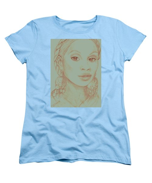 Mary J Blige Women's T-Shirt (Standard Cut) by Christy Saunders Church