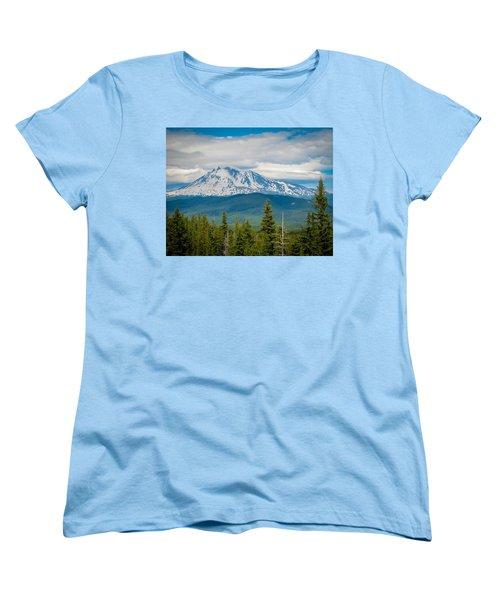 Mt. Adams From Indian Heaven Wilderness Women's T-Shirt (Standard Cut) by Patricia Babbitt