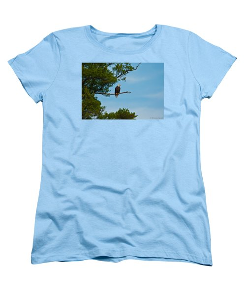 Women's T-Shirt (Standard Cut) featuring the photograph Out On A Limb by Brenda Jacobs