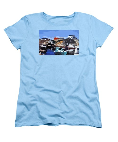 Peggy's Cove Women's T-Shirt (Standard Cut) by Lydia Holly