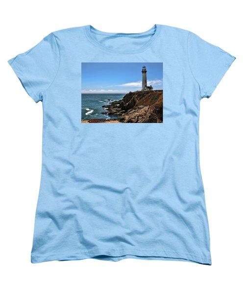 Pigeon Point Lighthouse Women's T-Shirt (Standard Cut) by Judy Vincent