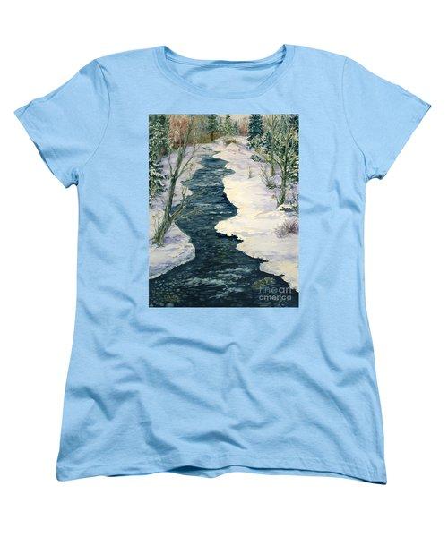 Rock Creek Winter Women's T-Shirt (Standard Cut) by Lynne Wright