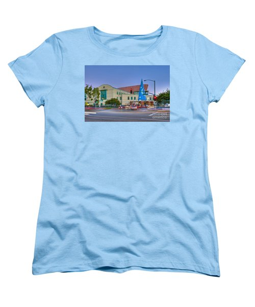 Roy E. Disney Animation Building In Burbank Ca. Women's T-Shirt (Standard Cut) by David Zanzinger