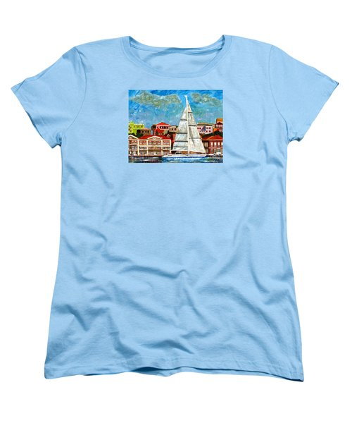 Sailing In Women's T-Shirt (Standard Cut) by Laura Forde