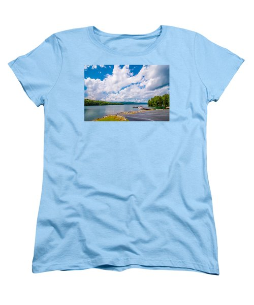 Scenery Around Lake Jocasse Gorge Women's T-Shirt (Standard Cut) by Alex Grichenko