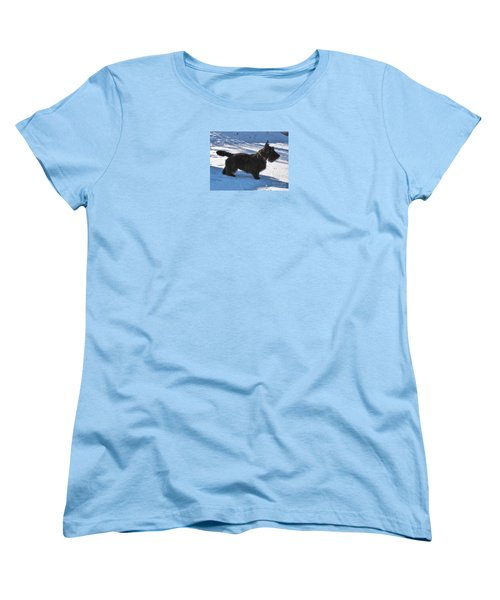 Women's T-Shirt (Standard Cut) featuring the photograph Scottie Silhouette by Michele Penner