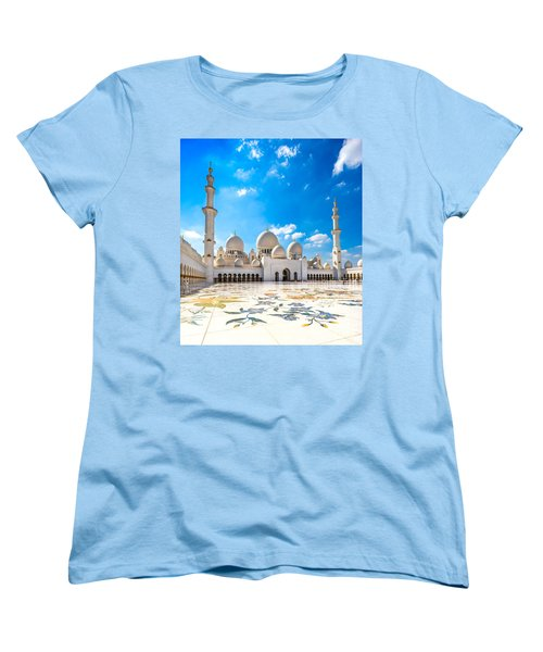 Sheikh Zayed Mosque - Abu Dhabi - Uae Women's T-Shirt (Standard Cut) by Luciano Mortula