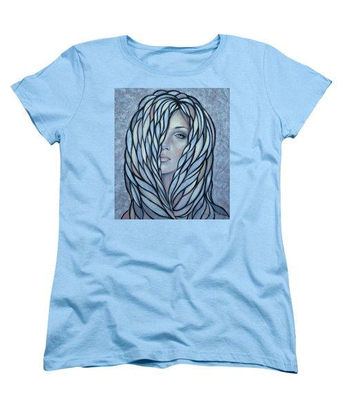 Women's T-Shirt (Standard Cut) featuring the painting Silver Nymph 021109 by Selena Boron