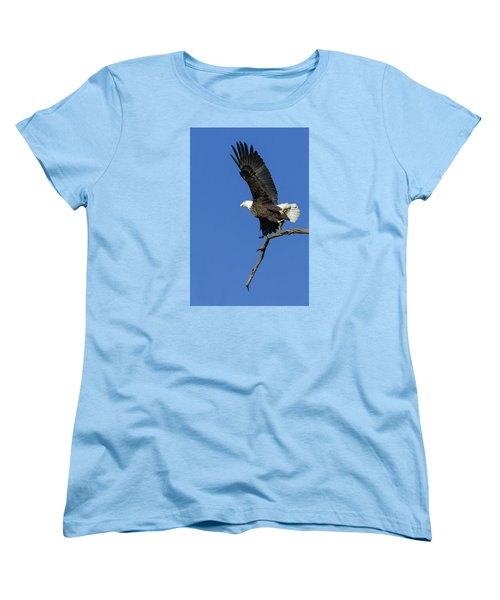 Women's T-Shirt (Standard Cut) featuring the photograph Take Off 2 by David Lester