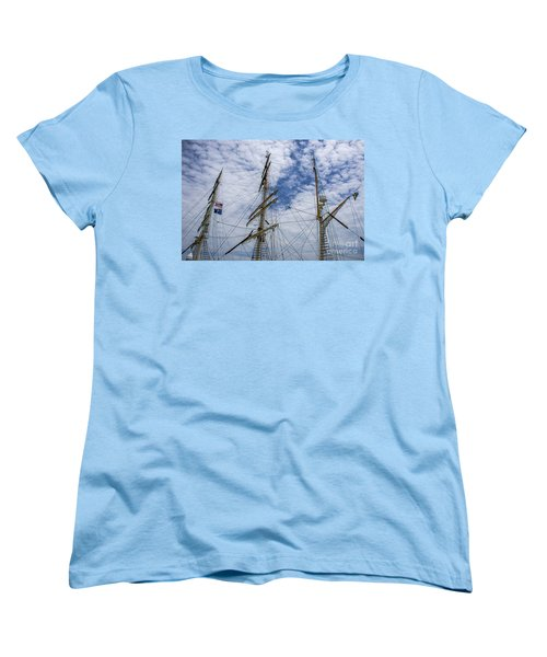Women's T-Shirt (Standard Cut) featuring the photograph Tall Ship Mast by Dale Powell