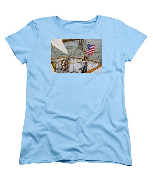 Women's T-Shirt (Standard Cut) featuring the photograph Tall Ships by Dale Powell
