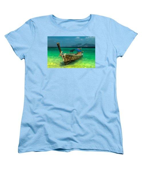 Thai Longboat Women's T-Shirt (Standard Cut) by Adrian Evans