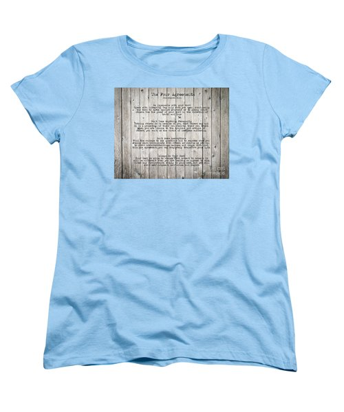 The Four Agreements Women's T-Shirt (Standard Cut) by Andrea Anderegg