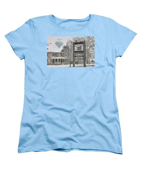 The Whitehouse Inn Sign 7034 Women's T-Shirt (Standard Cut) by Jack Schultz