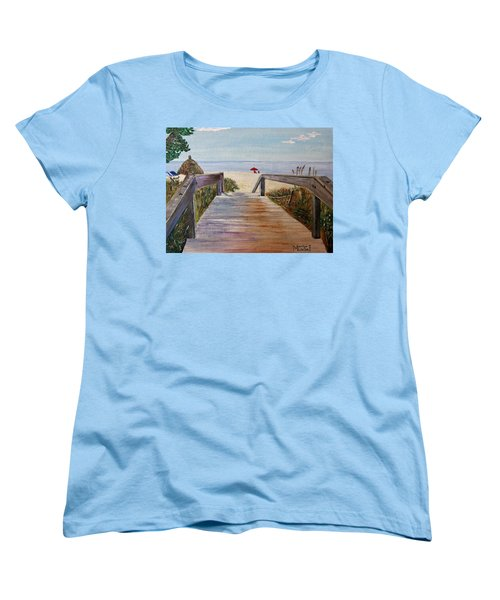 To The Beach Women's T-Shirt (Standard Cut) by Marilyn  McNish