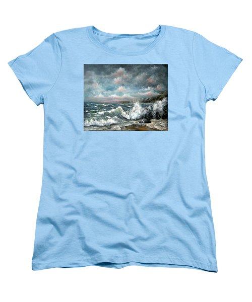 Turning Tide Women's T-Shirt (Standard Cut) by Patrice Torrillo