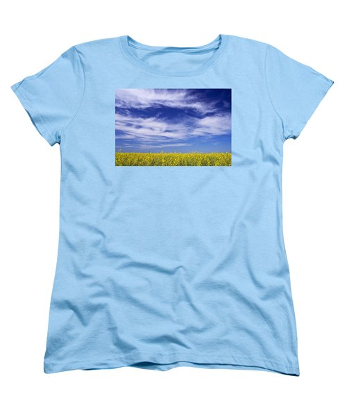 Where Land Meets Sky Women's T-Shirt (Standard Cut) by Keith Armstrong