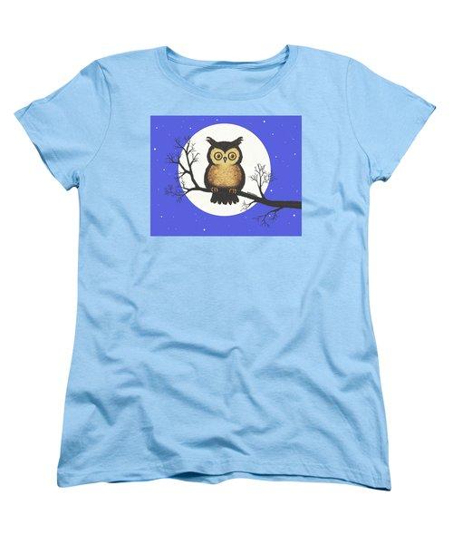Whooo You Lookin' At Women's T-Shirt (Standard Cut) by Sophia Schmierer