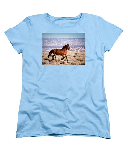 Eagle - Wild Horse Stallion Women's T-Shirt (Standard Cut) by Nadja Rider