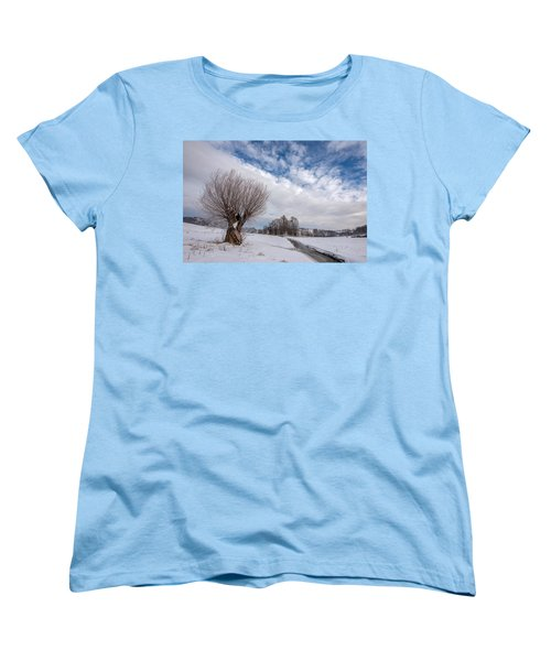 Women's T-Shirt (Standard Cut) featuring the photograph Willow by Davorin Mance