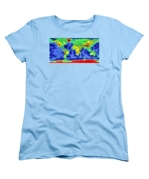 World Map Art Women's T-Shirt (Standard Cut) by Georgi Dimitrov