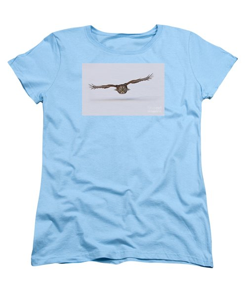 Great Gray Owl Women's T-Shirt (Standard Cut) by Michael Cummings